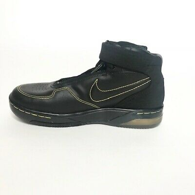 Nike Air Force 25 -Sz 6.5Y- Girls' Black and Gold Basketball Shoes Mid Top Lace