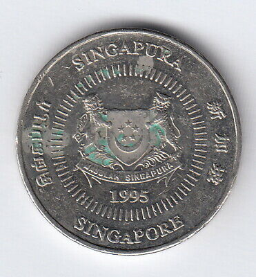 SINGAPORE 1995 50 cents (Ribbon downwards)  K102  R333