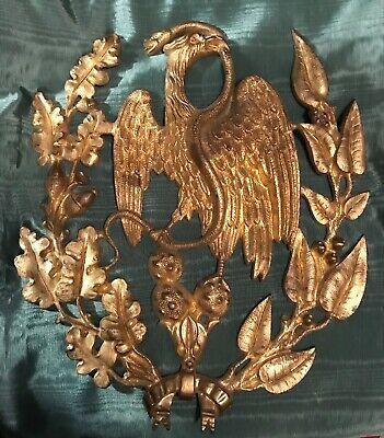 Antique Gilt Brass or Bronze Mexican Eagle