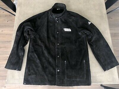 NEW - Lincoln RedLine Heavy Duty Black Leather Welding Jacket - LARGE