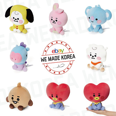 BT21 Character Baby Sitting Doll 20cm (7.87 inch) 7types Official K-POP Goods