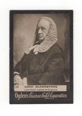 Ogden cigarette card: Lord Alverston, Lord Chief Justice