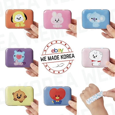 BT21 Character Baby Tin Case Bandage Set 50 sheets 7types Official K-POP Goods