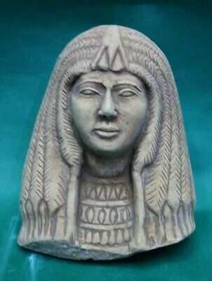 Rare Ancient Egyptian Antiques Queen Nefertari Head Egypt Limestone 1549-1139 BC