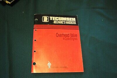 Tecumseh Mechanics Handbook Manual Overhead Valve 4-Cycle Engines