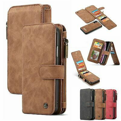 For Samsung Note 10 9 Plus S9 S8 S7 Leather Purse Magnetic Removable Wallet Case