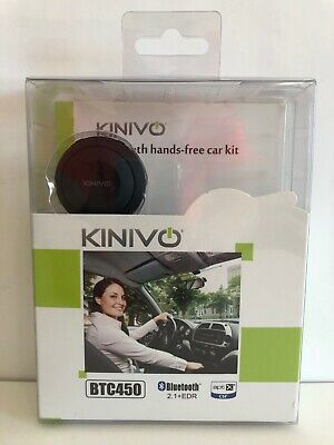 Kinivo BTC450 Bluetooth Hands-Free Car Kit for Cars with Aux Input Jack - 3.5 mm