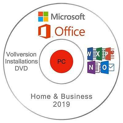 Microsoft Office Home and Business 2019 INSTALLATIONS - DVD/USB - Vollversion