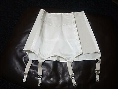 Vintage White Excelsior  Boned Girdle With Suspenders
