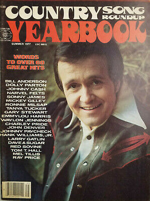 Country Song Roundup Yearbook 1977 Vtg Music Magazine - Dolly Parton Johnny Cash
