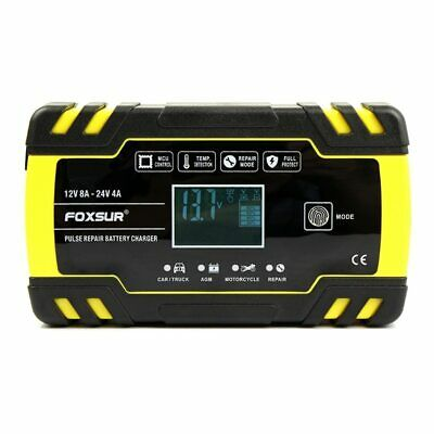 12V 8A 24V 4A Pulse Repair Charger with Lcd Display,  Car Battery Charger