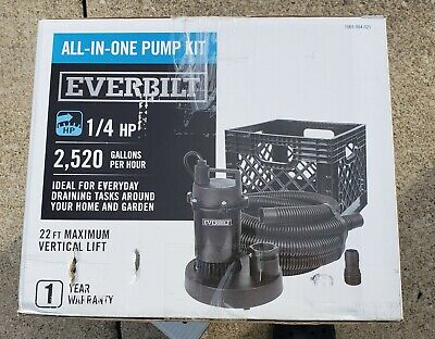 Everbuilt 1/4 HP Submersible Sump Pump All in One Utility Pump Kit
