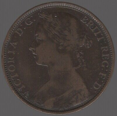 1892 Victoria One Penny | British Coins | Pennies2Pounds