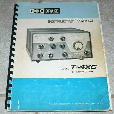RL Drake T-4XC Original Instruction Manual in Very Good Condition