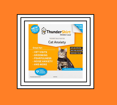 THUNDERSHIRT Insanely Calm The Best Cat Anxiety LARGE Solid Gray