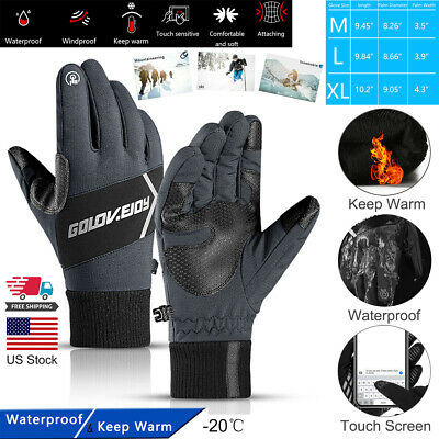 Winter Warm Thermal Gloves Water/Windproof Outdoor Sport Touch Screen Mittens US