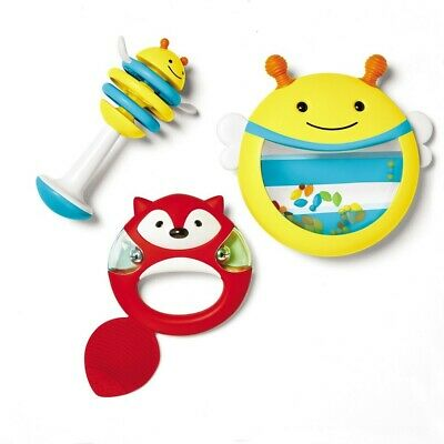 Skip Hop Explore & More Musical Instrument Set Drum Tambourine & Clacker