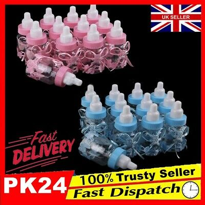 24 Fillable Bottles for Baby Shower Favors Blue Pink Party Decorations Girl  UQ