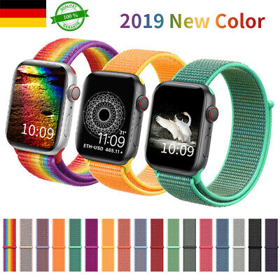 40/44mm 38/42mm Nylon Sport Armband Uhren Für Apple Watch iWatch Serie 5 /4/3/2