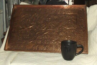 Keswick School of Arts Copper repousse tray Arts and Crafts Stamped ksia large