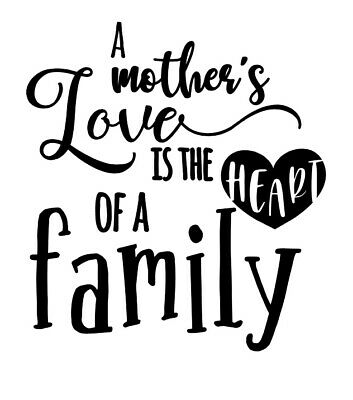 Mothers Day Family Love kids Room Wall Art Sticker Vinyl Decals Transfer Mural