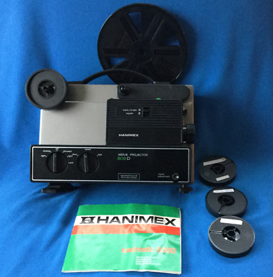 HANIMEX Movie Projector 808D Loadmatic Super/Single/Regular 8