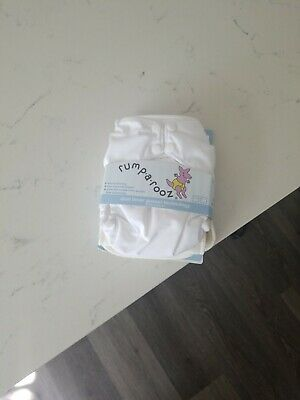 Kanga Care Rumparooz One Size Cloth Diaper with inner gusset. Color White.
