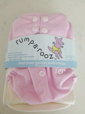 Kanga Care Rumparooz One Size Cloth Diaper with inner gusset. Color: Pink