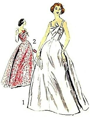 #456 EVENING GOWN DOLL PATTERN FOR ALL PICK YOUR SIZE