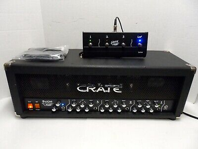 VTG Crate BV150H BV 150 Watt Tube Blue Voodoo 3 Channel Guitar Amp Head Loop