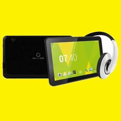 "Tablet 7,0 "" Inch /Quadcore-Prozessor/Android/2x-Kamera/ 8 GB Flash + Hi-Fi Buds"