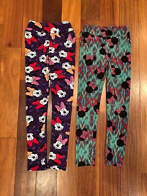 NWT Gap Kids Size 10 or 12 Black Disney Mickey Minnie Mouse Donald Duck Leggings