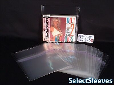 RESEALABLE sleeves CD jewel case TOP seal Japan Made 100 pcs SelectSleeves