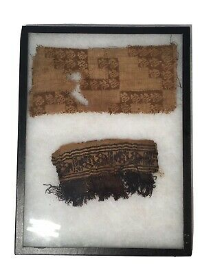 Two Egyptian Early Christianity Roman-Coptic Textile Fragments