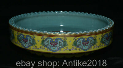 """7.8"""" Marked Old China Wucai Porcelain Dynasty circle lacework Plate Dish"""