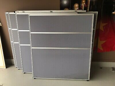 Freestanding Office Partition Screen Fabric Silver Frame 1200H x 1200W (7pcs),
