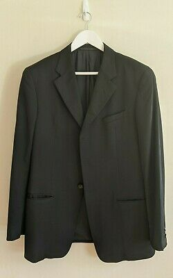 ARMANI COLLEZIONI Black 3-Button Jacket - 100% Wool - Size 52R - Made in Italy
