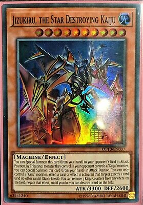 YuGiOh Jizukiru, the Star Destroying Kaiju Super Rare OP10-EN007 NM