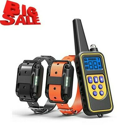 Dog Training Shock Collar remote 800 meters rechargeable Waterproof for 2 Dogs