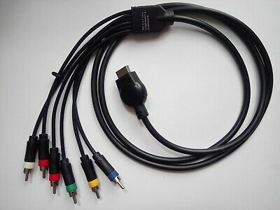 Component YPbPr & composite 2 in 1 cable for Playstation 1 PS1 PSX RGB AV !