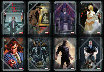 Topps Marvel Collect FORTUNE 2020 [8 CARD SILVER SET] Peter Parker/Frost/Xavier+