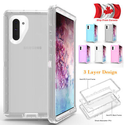Hybrid Clear Shockproof Defender Case For Samsung Note10 Note 9 8 S9 Plus S7 S8
