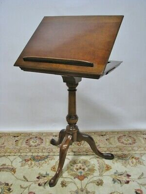 A Caledonian English Made George III Style Mahogany Pedestal Reading Table