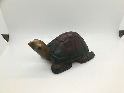 Wooden Turtle Hand Carved Figurine