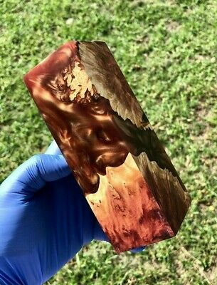 Stabilised Red Mallee Burl Hybrid Block Game Call Blank Wood Turning Material