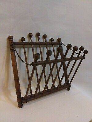"Antique Wood Wall Magazine/Newspaper Rack 15 x 16"" Used Good Condition"