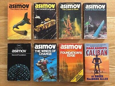 Isaac Asimov Panther Science Fiction Caves of Steel, Currents of Space etc.