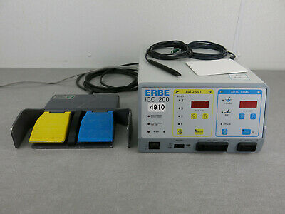 ERBE ICC 200 Electrosurgical Unit with FootSwitch Handpiece Pad 10128-204