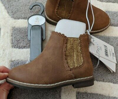 Baby Girls Toddler Mothercare Brown Tan Boots Size 5 Infant BNWT - Free P&P