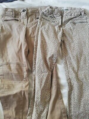2 X Girls Trousers Age 9 Zara & Next